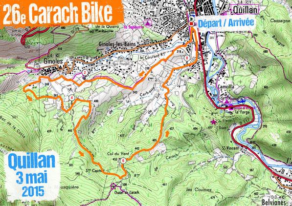 Carach Bike 2015 - Plan de la course