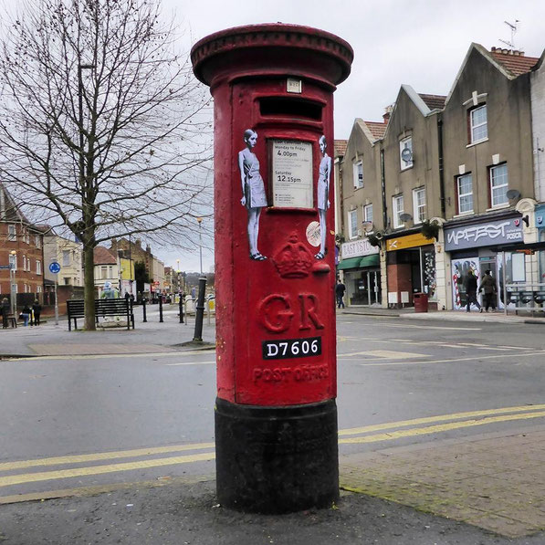 Twiggy Post Box makeover - Bristol, UK