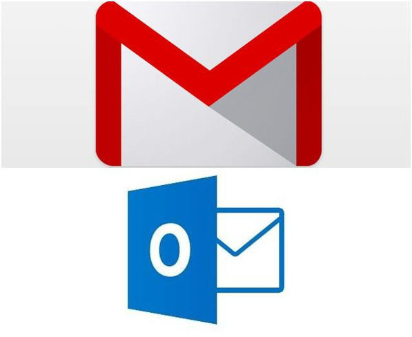 Logotipos de Gmail y Outlook.