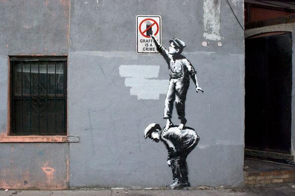 Grafiti de Banksy.