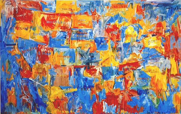 'False Start' - Jasper Johns (1959).