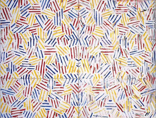 'Corpse and Mirror II' - Jasper Johns (1975).