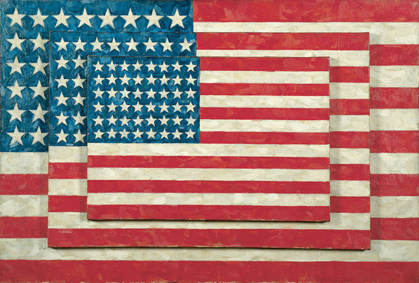 'Three flags' - Jasper Johns (1958).