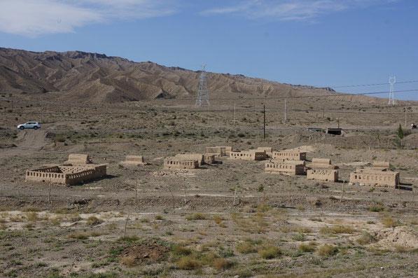 Village Ouighour en terre