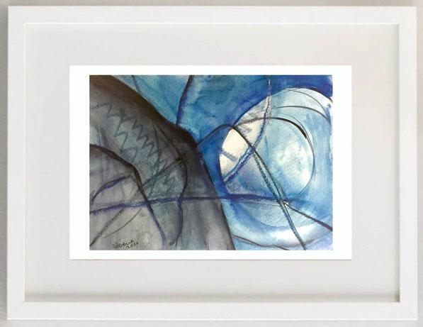 80 / VERENA DALDINI, Metamorfosi 1 (di farfalle), 2010, Acquerello tecnica mista, 25 x 17