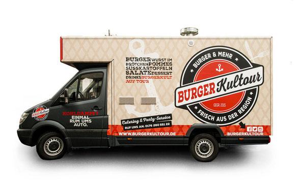 Food Truck Design für Burgerkultour von Design Experte Timon Schlichenmaier