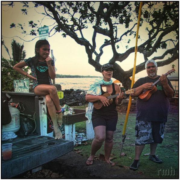 sing-along at the Hana Beach Park, Maui, HI