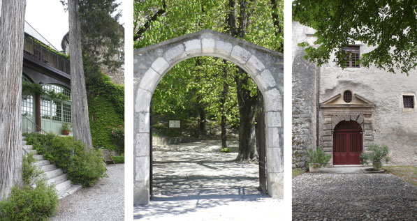 Entrée, châteaux, Picomtal, Tallard, Montmaur, Hautes Alpes, Tourisme