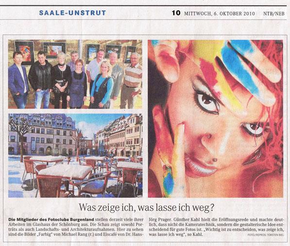 Ausstellung Schönburg - Glashaus - NMBTageblatt 10/2010