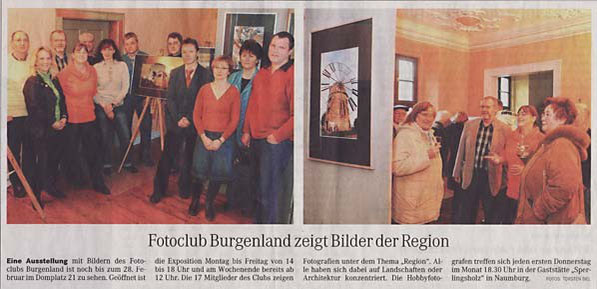 "Ausstellung ""Regionales"" in der ehemaligen Galerie ""Görl"" - NMB Tageblatt 02/2009"