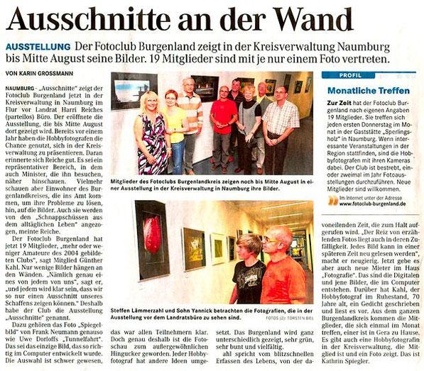 Ausstellung in der Kreisverwaltung Naumburg - NMBTageblatt 07/2011