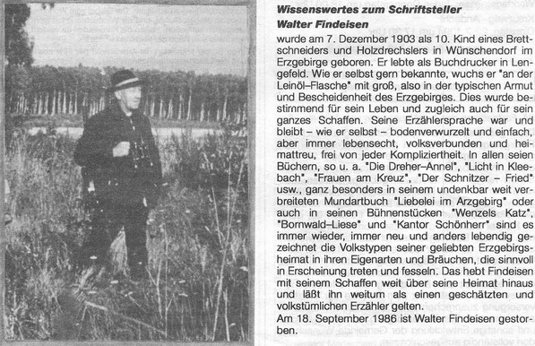 Bild: Walter Findeisen Wünschendorf Erzgebirge