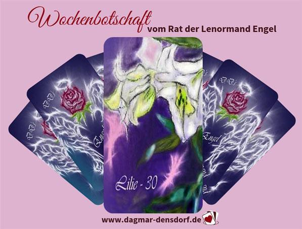 """Wochenbotschaft """"Rat Lenormand Engel"""" aus D.D.'s Engel Lenormand"""