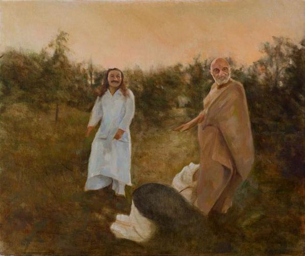 Painting by Gregg Rosen