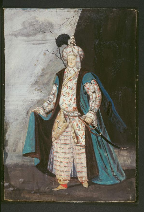 """Markgraf Wilhelm von Baden, genannte """"Türkenlouis"""" in osmanischer Tracht"""