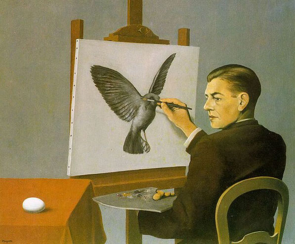 "René Magritte, ""La chiaroveggenza"" (1936)"