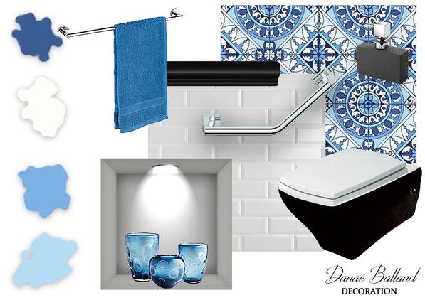 Planche toilettes handicapé Danaé Balland décoration