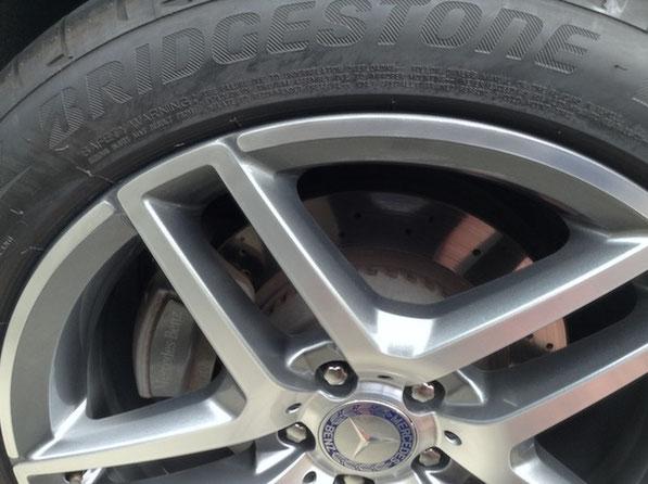 ベンツS400 AMG ツイン5スポークホイールの傷を修理 トータルリペア ラディックス