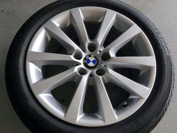 松戸市トータルリペア ラディックス BMWホイールシルバー塗装 ホイールリペア 完