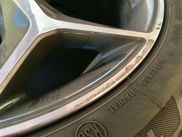 BMW X1 ホイールの修理 ダイヤモンドカット  切削加工 トータルリペア のホイールリペア