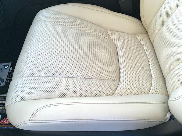レザー本革 シート座面の凹凸痕 へこみの補修