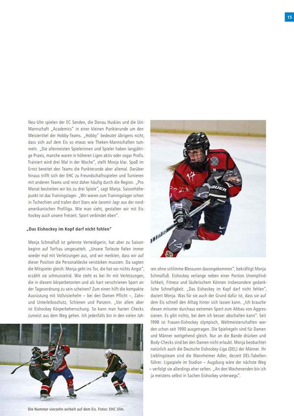 Dameneishockey in der SWU Mitarbeiterzeitschrift