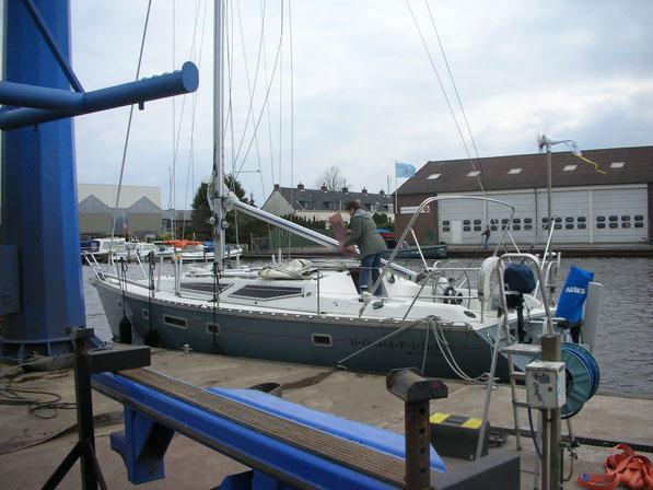 Eine schöne Zeit, voller Erwartungen: Alles Gut, alles funktioniert auch für länger. Das letzte mal geht das Boot in Woudsend / NL über den Winter an Land. Im nächsten Jahr wollen wir los !!