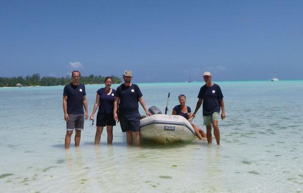 2017 waren auch Andi´s Kinder Dennis und Laura zusammen mit Sam an Bord. Von Tahiti segelten wir gemeinsam bis Borabora.