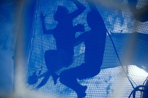 Leichtwindsegeln in ruhigem Wasser, liegend im Netz.....JAMAICA 3/2014
