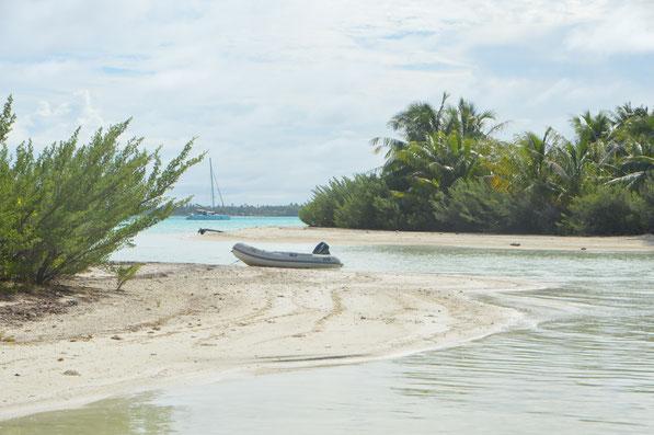 Auf dem Inselchen PITIAHE,  Juni 2016    Allein, allein.....