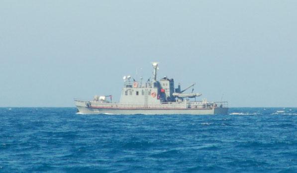 Fotografieren verboten !   Algerische Kontrolle auf See