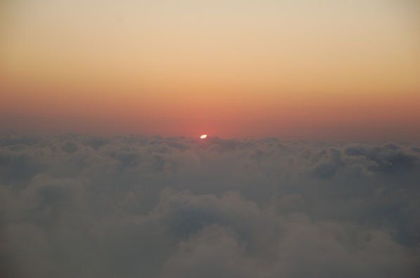 SUNSET IN 920m Höhe:  PÜNKTLICH ZUM SONNENUNTERGANG SIND WIR OBEN
