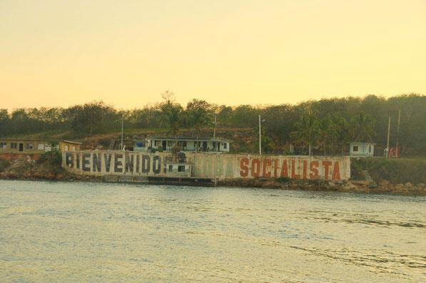 Fronteras, in der Einfahrt in die große Bucht von Cienfuegos