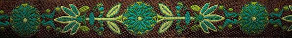 'Pinwheel' braun-türkis-grün - 24 mm (+ 1,00€)