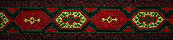 'Orientalische Waben' rot-grün-gelb - 33 mm