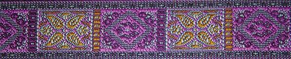 'Kassetten' lila-violett-gelb - 24 mm