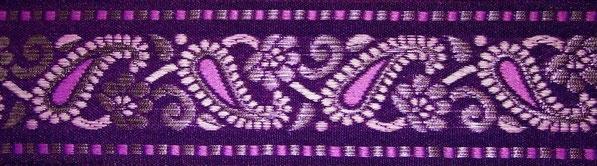 'Paisley' violett-rosa-silber- 43 mm