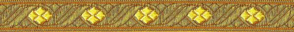 'Goldene Brokatborte' - 16 mm (+ 2,00 €)
