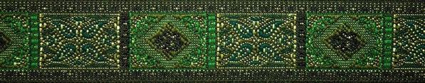 'Kassetten' grün-petrol-gold - 24 mm