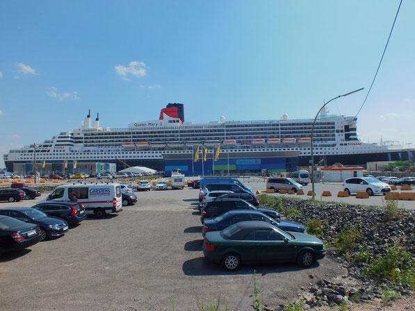 jour d'escale pour le Queen Mary 2