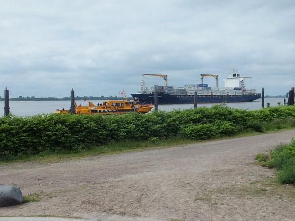 les bords de l'Elbe à Blankenese