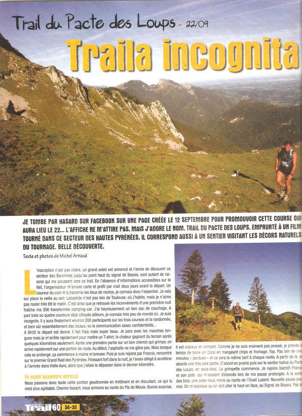 article Esprit Trail, merci à Michel ARNAUD