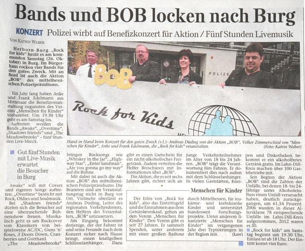 Herborner Tageblatt vom 22.10.2013