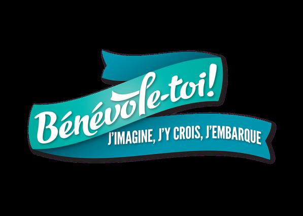Bénévole-toi! j'imagine, j'y crois, j'embarque - Ville de Québec Arrondissement de Beauport - logo bleu