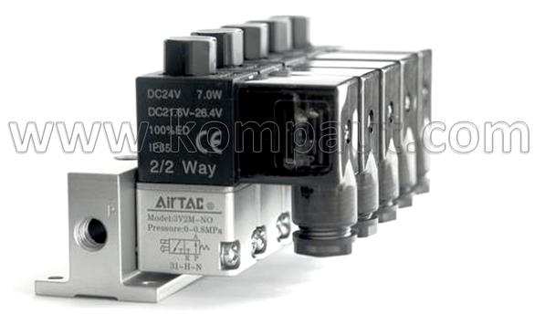 KOMPAUT, elettrovalvole Airtac a comando diretto montate in batteria