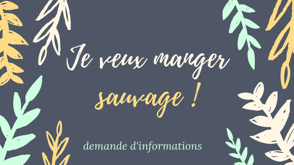 Formation plantes sauvages comestibles