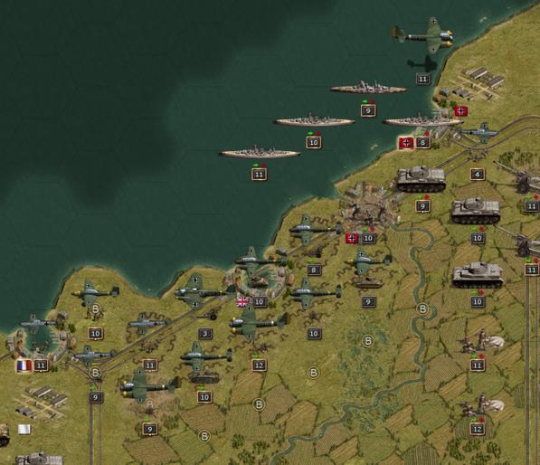 Luftwaffe über Dünkirchen