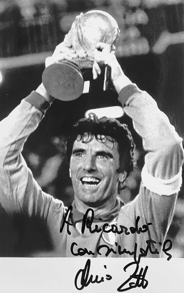 Autograph Dino Zoff Autogramm