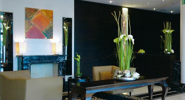 Florales Design im Innenbereich