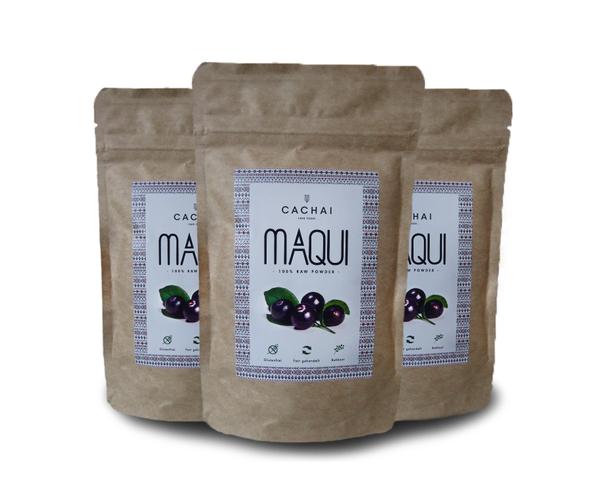 Verpacktes Maqui Pulver